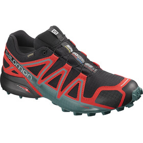 Salomon Speedcross 4 GTX Shoes Men black/high risk red/mediterranea